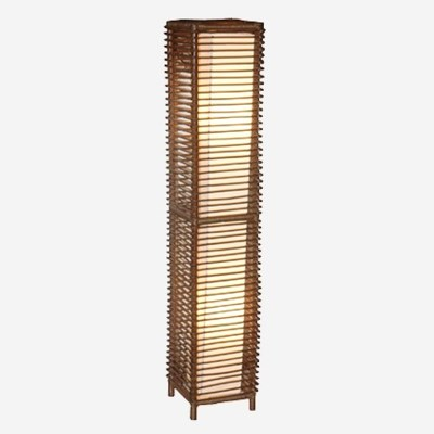(LS) Meridian Decorative Floor Lamp W/Rattan Frame-M (10x10x53)