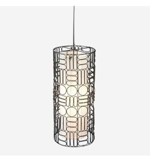 (LS) Palila Hanging Lamp (12X12X25.5)