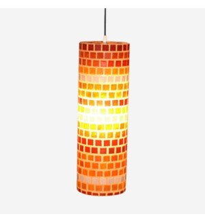 (LS) Tuscan Mosaic Hanging Lamp - M (6.5X6.5X20)