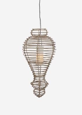 Orinda Hanging Lamp-L-Kuboo Grey..(16X16X34)..