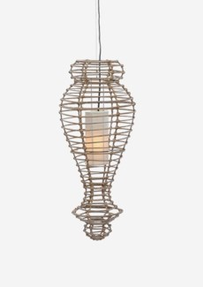 (LS) Orinda Hanging Lamp-M-Kuboo Grey..(13X13X30)..