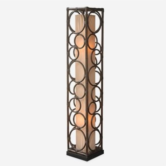 (LS) Roman multi circle design decorative floor lamp-L (10X10X53)