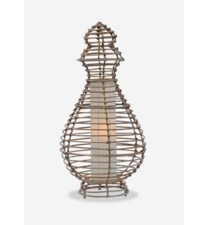 Orinda Table Lamp-L-Kubu Grey..(16X16X32)..