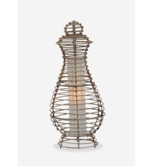 (LS) Orinda Table Lamp-M-Kubu Grey..(12.5X12.5X28)..