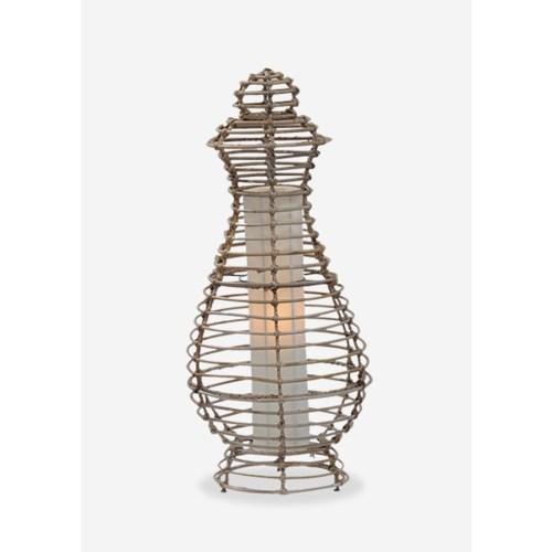 (LS) Orinda Table Lamp-M-Kubu Grey..(12.5X12.5X28)..