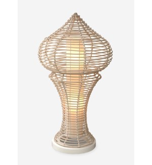 (LS) Siena decorative floor lamp L w/white wash rattan -M (21x21x40)