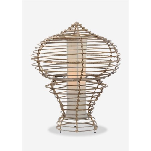 (LS) Sienna Table Lamp-L-Kuboo Grey..(19X19X24.5)..