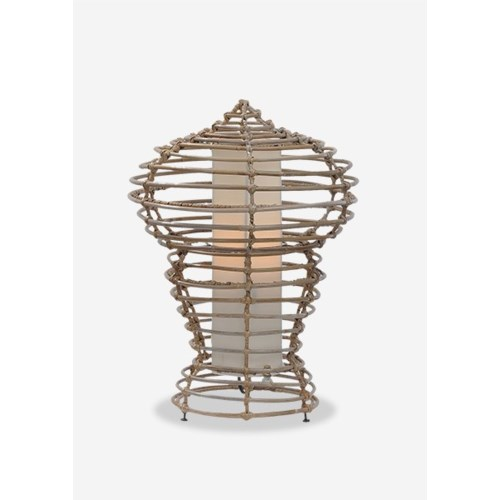 (LS) Sienna Table Lamp-M-Kuboo Grey..(14X14X21.5)..
