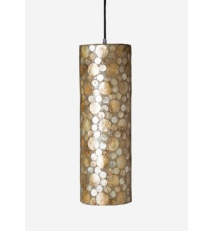 (LS) Bubbles decorative pendant w/ shell accent-M (6X6X20)