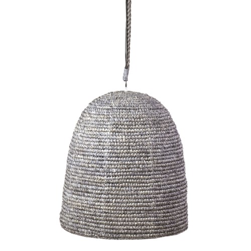 "Anika PendantWoven Raffia-GreyHanger: Rope-Grey Wash20""w x 21""h"