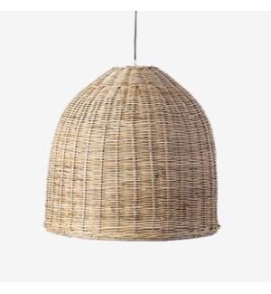 "Driftwood Dome PendantRattan(Slimit)-Grey WashMetal Frame20""w x 20""h"