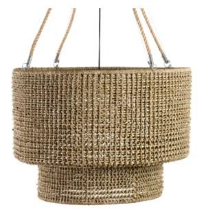 **Sultan Woven ChandelierNatural RopeManila Rope/Wire HangersMetal Frame