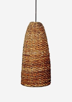 (LS) Bella Abaca Hanging Lamp (14x14x30)