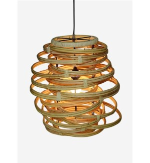(LS) Oceola Hanging Lamp - Kubu Natural (18x18x19)