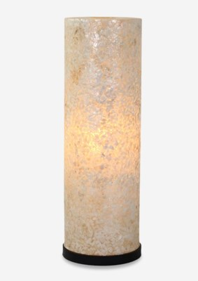 (LS) Grand Viona Round Floor Small-White (13X13X37)