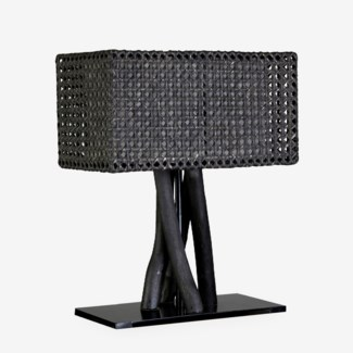 (LS) Jungle Table Lamp Dark With Rectangular Shape (18X10X25) (2 boxes per piece)