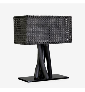 Jungle Table Lamp Black With Rectangular Shape (18X10X25) (2 boxes per piece)