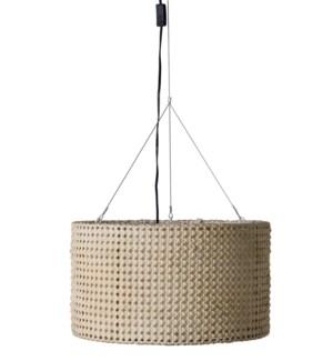 (LS) Hector Round Pendant-White (21.5x21.5x14)