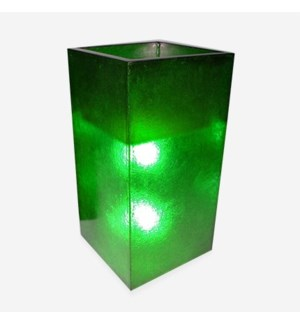 (LS) Labota Square Planter/Lamp (L)-GREEN