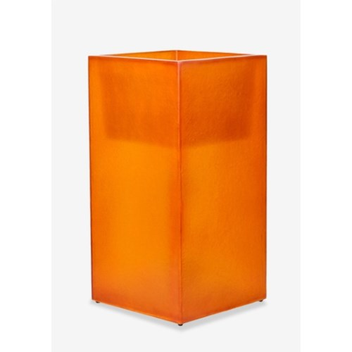 (LS) Labota Square Planter/Lamp (L) - ORANGE (18x18x35)
