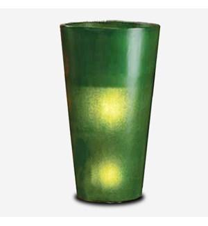 (LS) Kania Round Cylinder Planter/Lamp (18x18x35)-GREEN