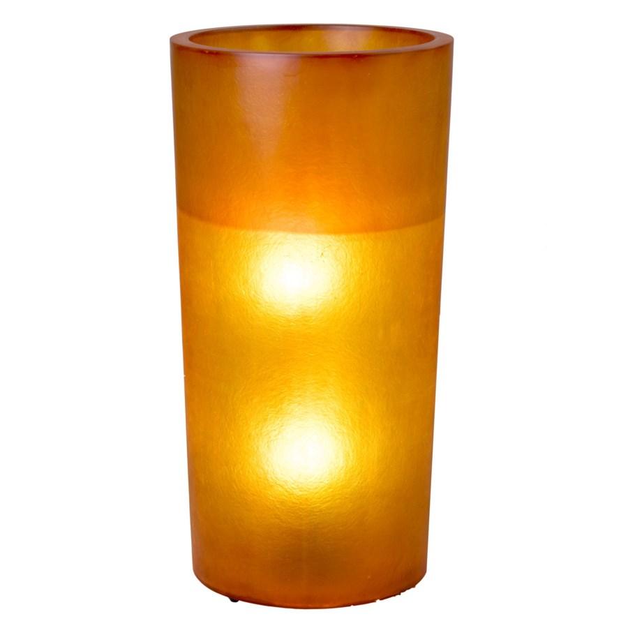 (LS) Kania Round Cylinder Planter/Lamp (L) - ORANGE (18X18X35)