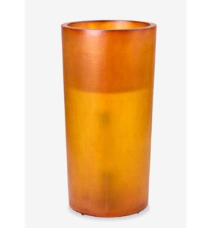 (LS) Kania Round Cylinder Planter/Lamp (L) - ORANGE (18X18X35)