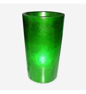 (LS) Kania Round Cylinder Planter/Lamp-(18x18x23.5)-GREEN
