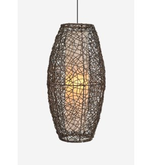 (LS) Lumina Hanging Lamp-Medium-Grey Wash (14X14X28)
