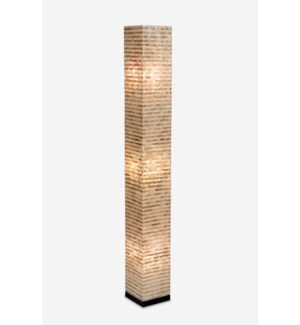 (LS) Uptown Gold-White Capiz Stripes Design Floor Lamp-Large..