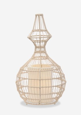 (LS) Silhoutte Table Lamp Wide A..(14X14X24.5)..