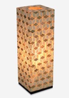 (LS) Stream Capiz Table Lamp-Large..(8x8x25)....