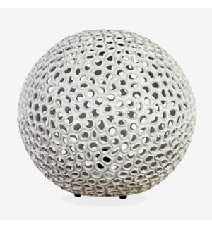 "(LS) 20"" Elara Round Fiberlass Lamp - Grey (20X20X18)"