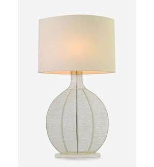 (LS) Ficaro Table Lamp - Cream Metal - L (23x10x43)