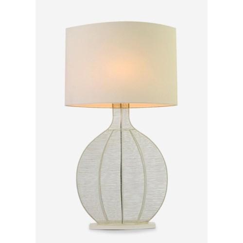 (LS) Ficaro Table Lamp - Cream Metal - L (23x10x43)