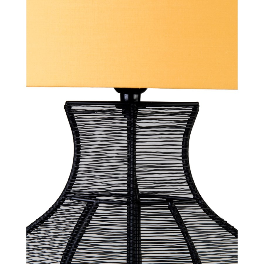 (LS) Ficaro Table Lamp - Black Metal - M (19.5x10x31)