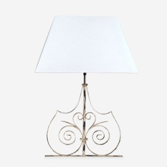 (LS) Infinity Table Lamp W/White Cotton Shade