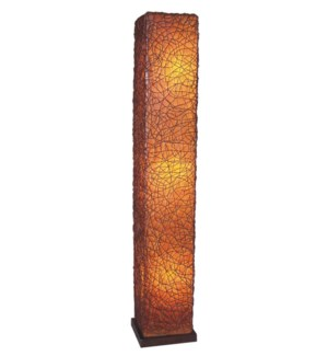 Paris Square Std Lamp w/ Wood Base (L) (14x14x77)