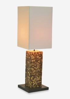 """(LS) 29"""" H Laurent Coco Tiled Base Lamp (9x9x29)"""