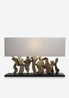 """21""""H Earth Linen Box Table Lamp with Rectangle Shade (8x31.5x23.6)...."""
