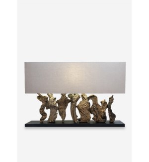 "21""H Earth Linen Box Table Lamp with Rectangle Shade (8x31.5x23.6)...."