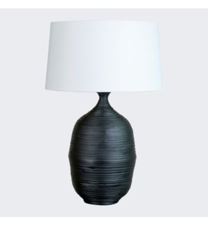 Tulum Table Lamp - Black (18x16x25.5)