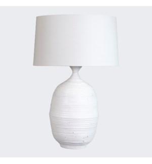 Tulum Table Lamp - White (18x16x25.5)