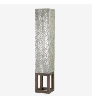 Wales Capiz Floor Lamp Large - Gray