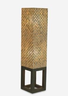 (LS) Wales Capiz Floor Lamp Medium - Gray