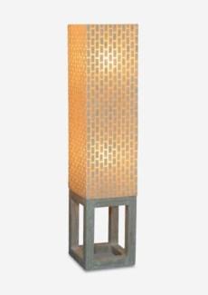 (LS) Wales Capiz Floor Lamp Medium - Whitewash