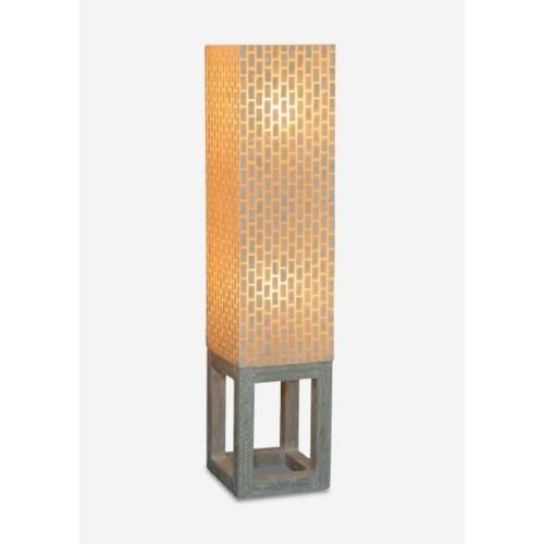 Wales Capiz Floor Lamp Medium - Whitewash
