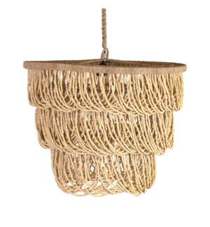 "24"" Rene Tiered Chandelier, Natural(**40"" cord, not adjustable)"