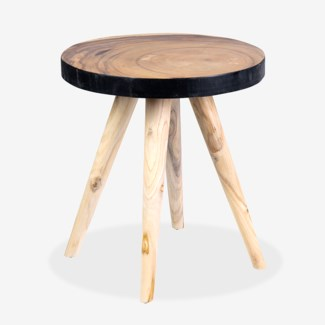 Milan Large Round Organic Side Table - BL