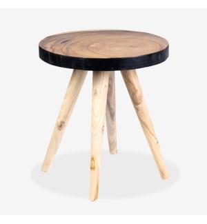 Milan Large Round Organic Side Table - BL